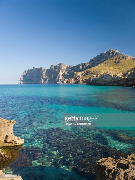 View across the bay, Cala Sant Vicenc, Mallorca