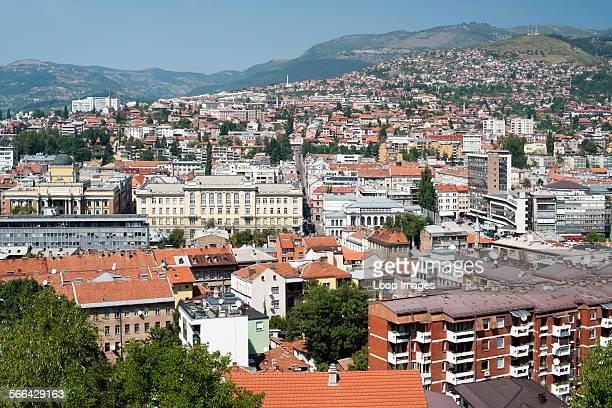 View across the Bosnia and Herzegovina capital city of Sarajevo
