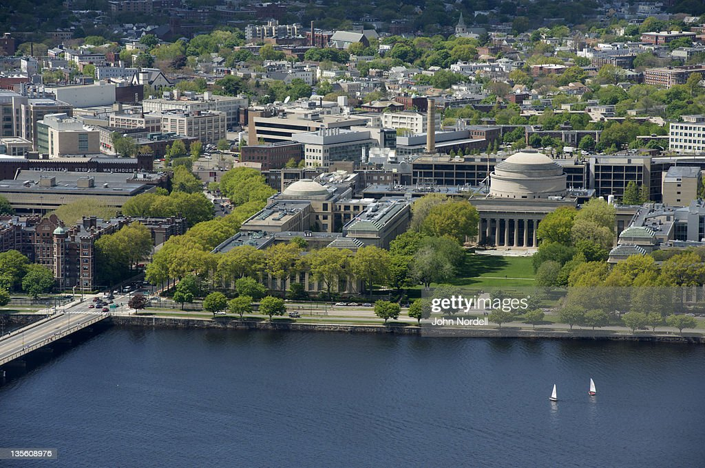 View across the Charles River at the campus of M.I.T (Massachusetts Institute of Technology), Cambridge, MA