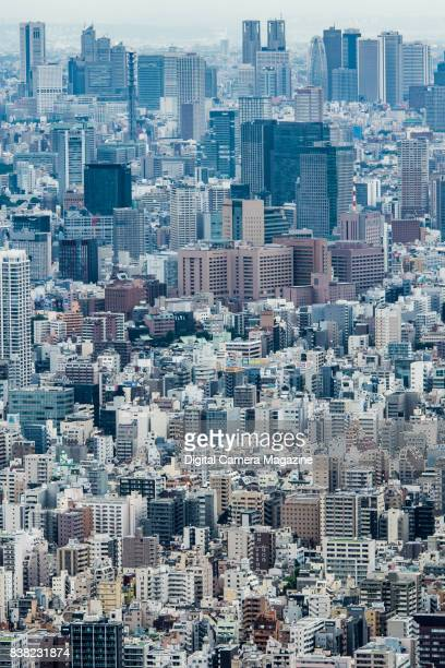View across the city of Tokyo Japan photographed from the observation deck of the Tokyo Skytree building taken on June 14 2016