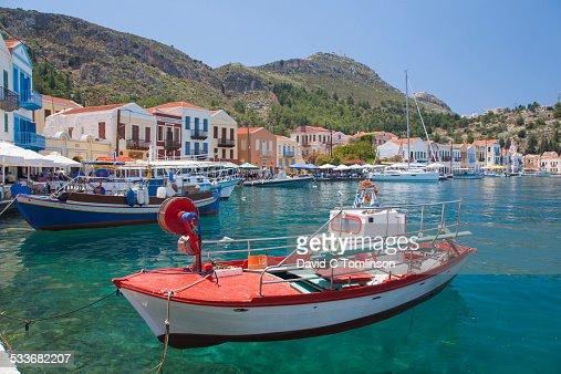 View across the harbour, Kastellorizo, Greece