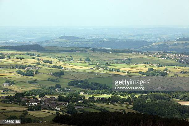 A view across the Holm Valley near Holmfirth West Yorkshire the location for the world's longest running sitcom Last of the Summer Wine which is to...