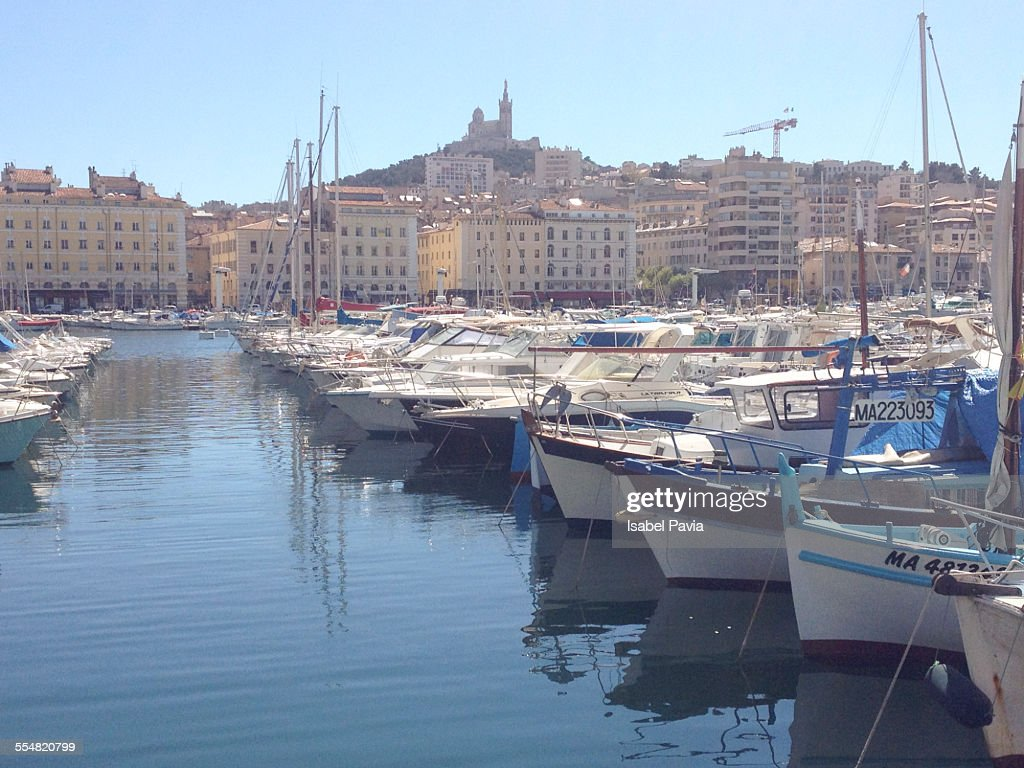 View across the Old Port, Marseille, France