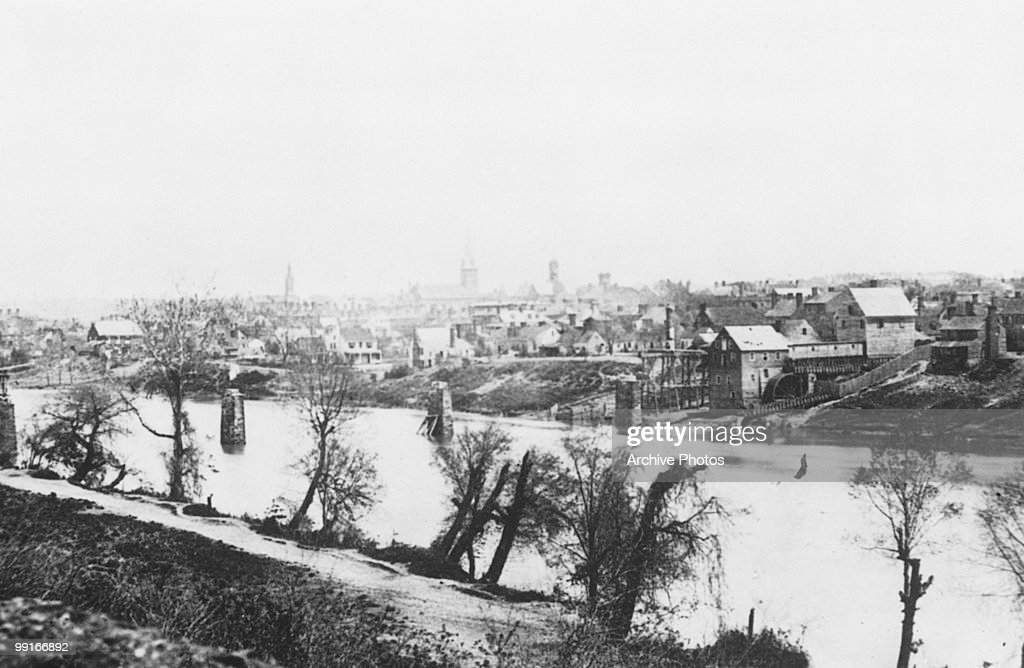 A view across the Rappahannock River Fredricksburg Virginia on 1 February 1863