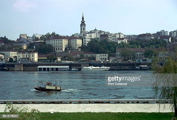 View across the river Sava to the Old Town in Belgrade Yugoslavia It was built on the promontory formed when the River Sava joined the Danube The...
