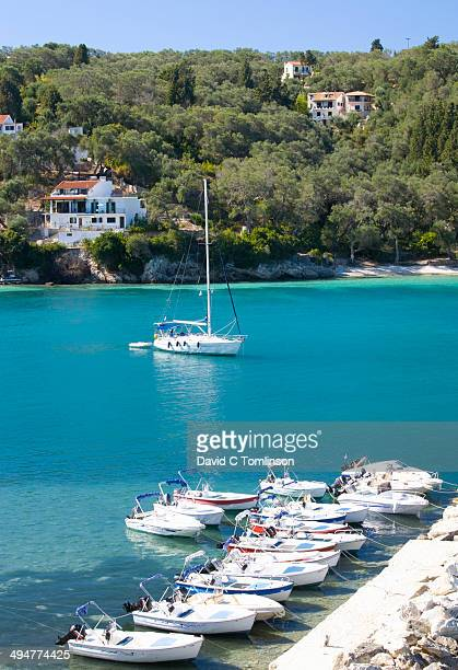 View across tranquil bay, Lakka, Paxos, Greece