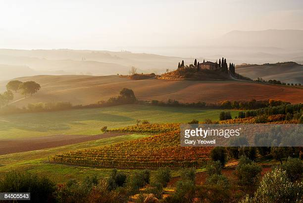 View across Tuscan landscape.