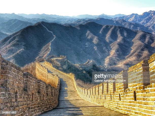 View Along Great Wall Of China, China