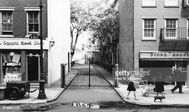View along Patchin Place a gated culdesac in the Greenwich village neighborhood New York New York September 24 1963