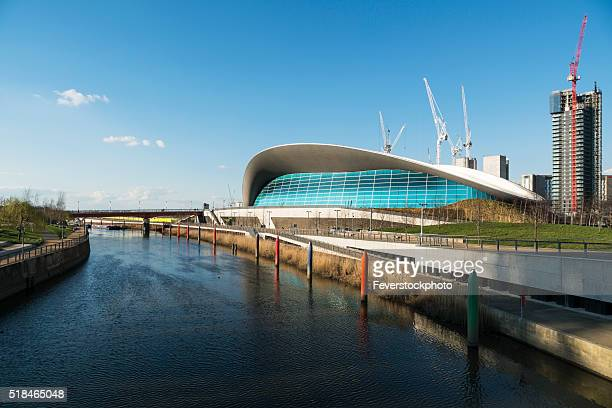 View Along The Canal Showing London Olympic Aquatics Centre
