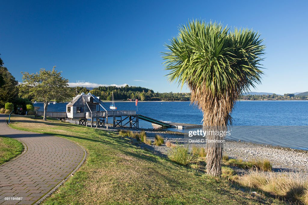 View along the lakefront, Te Anau