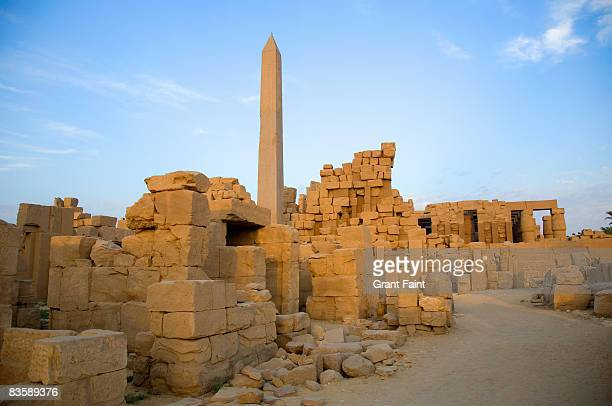 view ancient ruins of egypt sunrise