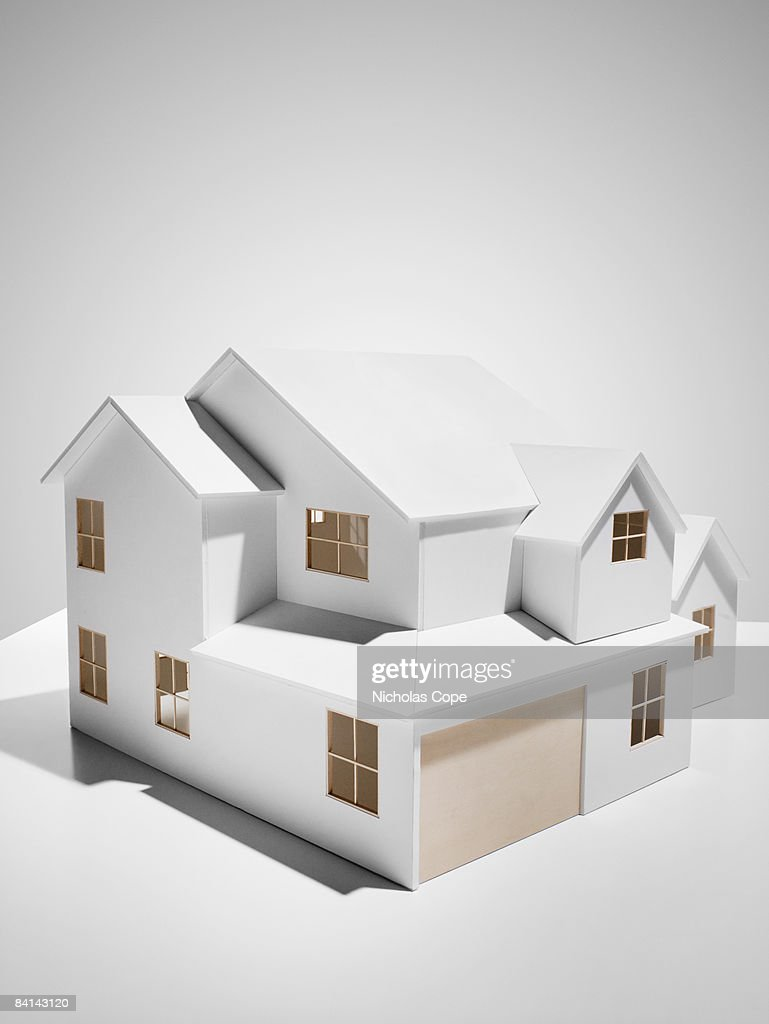 3/4 view architectural model. : Stock Photo