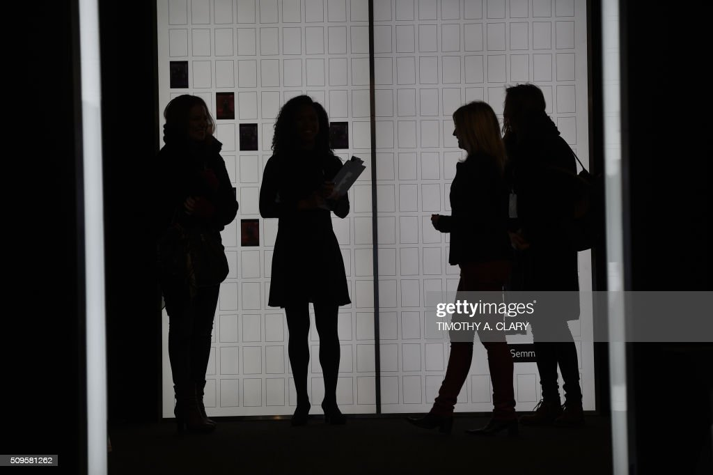 A view around the Arc, Skylight at Moynihan Station during the first day of the Fall 2016 New York Fashion Week: The Shows on February 11, 2016. / AFP / Timothy A. CLARY