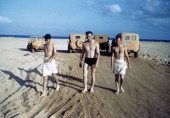 A view as crew members get ready for the surf at the US Air Force base in Benghazi Libya