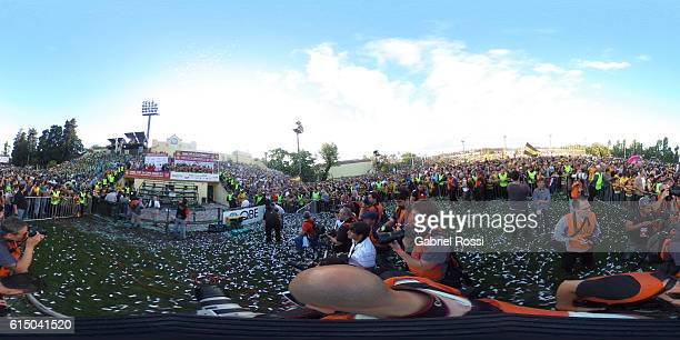 360 view as players of Belgrano Athletic celebrate the championship after the match between Belgrano Athletic and Hindu Club as part of the URBA Top...