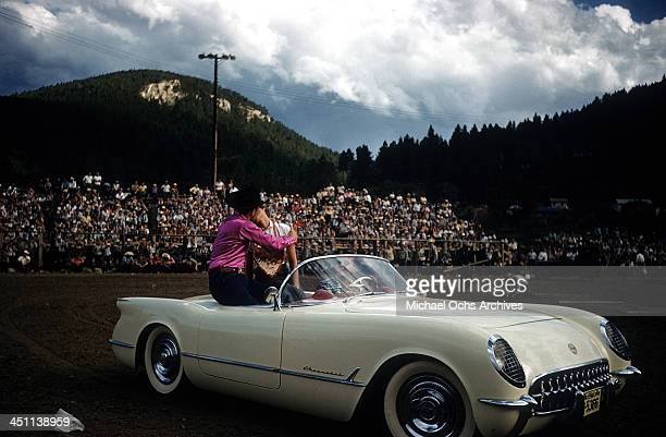 Grand marshal stock photos and pictures getty images dakota a view as the grand marshal gives a kiss in a convertible before the range sciox Choice Image