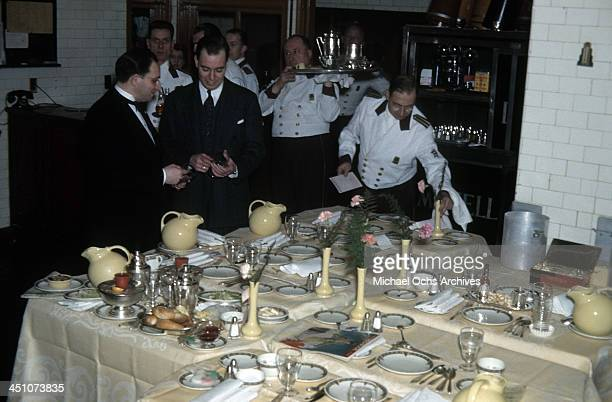 A view as the room service tables are prepared at The Plaza Hotel in New York New York