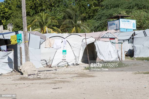PortauPrince Haiti December 09 2012 View at some tents in the refugee camp Parc Colofe in PortauPrince The camp exist since the devastating...