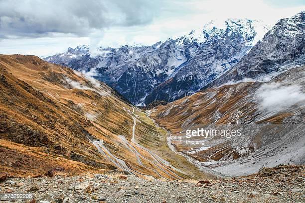 View at Stelvio Pass, Trentino Alto Adige, Italy