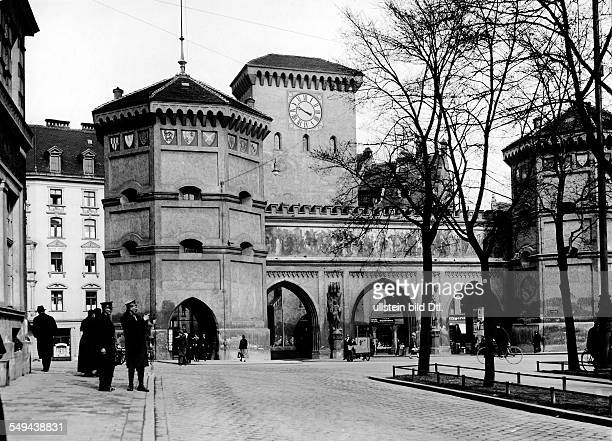 View at the Isartor in the center of Munich Vintage property of ullstein bild