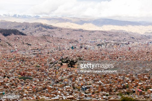 View Bolivia's capital, La Paz from the hills
