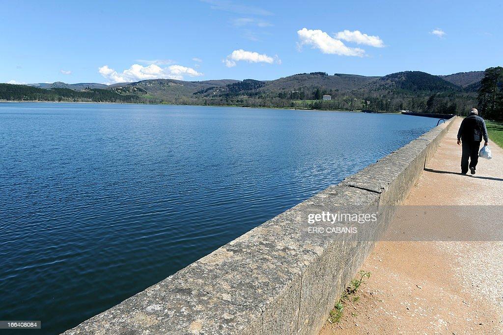 View dated on April 12, 2013 shows the lake in Saint-Ferreol, near Revel (Haute-Garonne), the basin feeding the Canal du Midi.