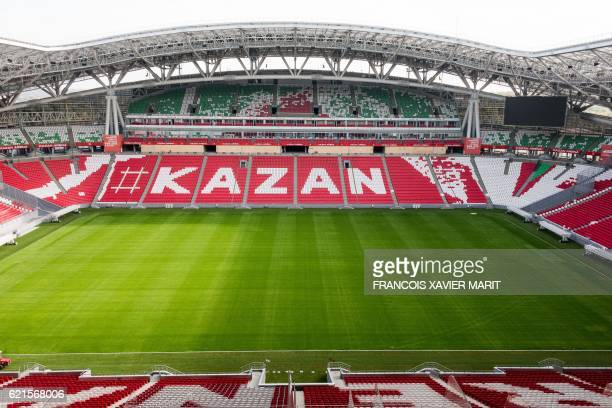 View dated on October 4 2016 shows the Kazan Arena Stadium ahead of the World Cup 2018 football tournament / AFP / Francois Xavier MARIT