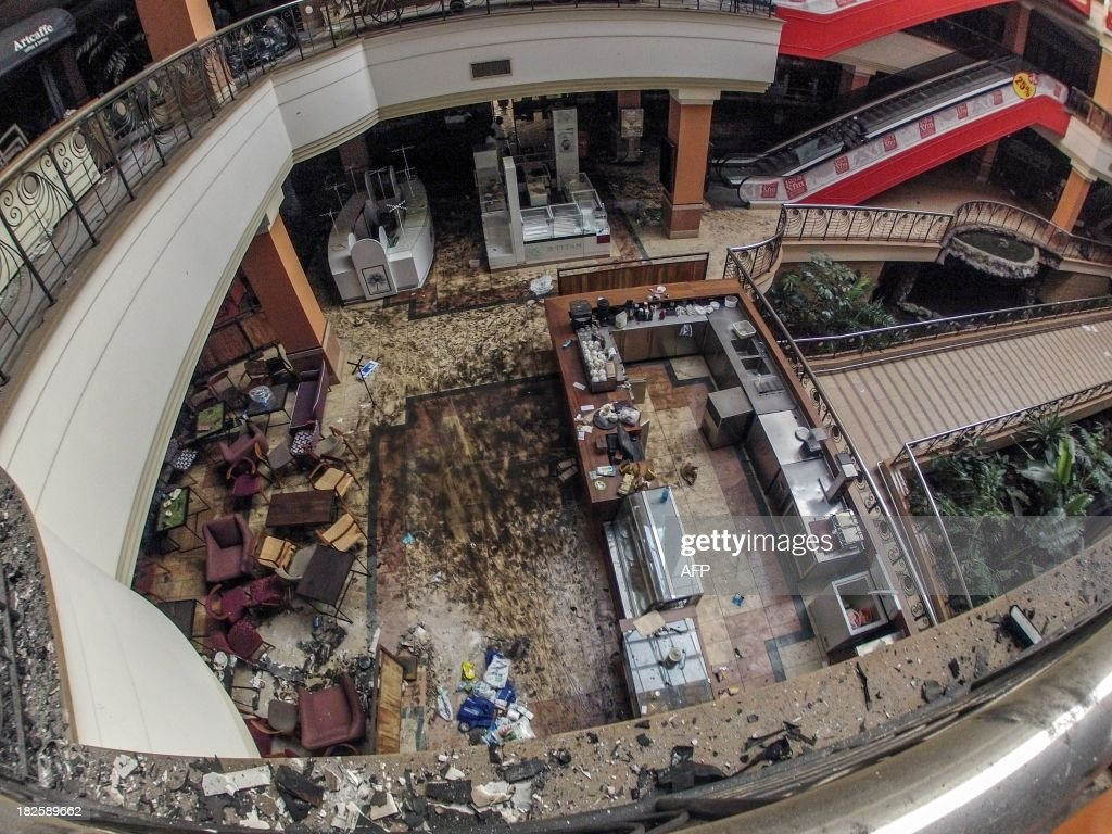 View dated on September 30, 2013 shows inside the Westgate Mall in Nairobi after the deadly assault by Islamist gunmen on September 21, 2013. Kenyan lawmakers investigating alleged security failings during the deadly assault on Nairobi's Westgate mall by Islamist gunmen were due to meet on October 1, 2013, as leaders gathered to commemorate the 67 killed. AFP PHOTO / JAMES QUEST
