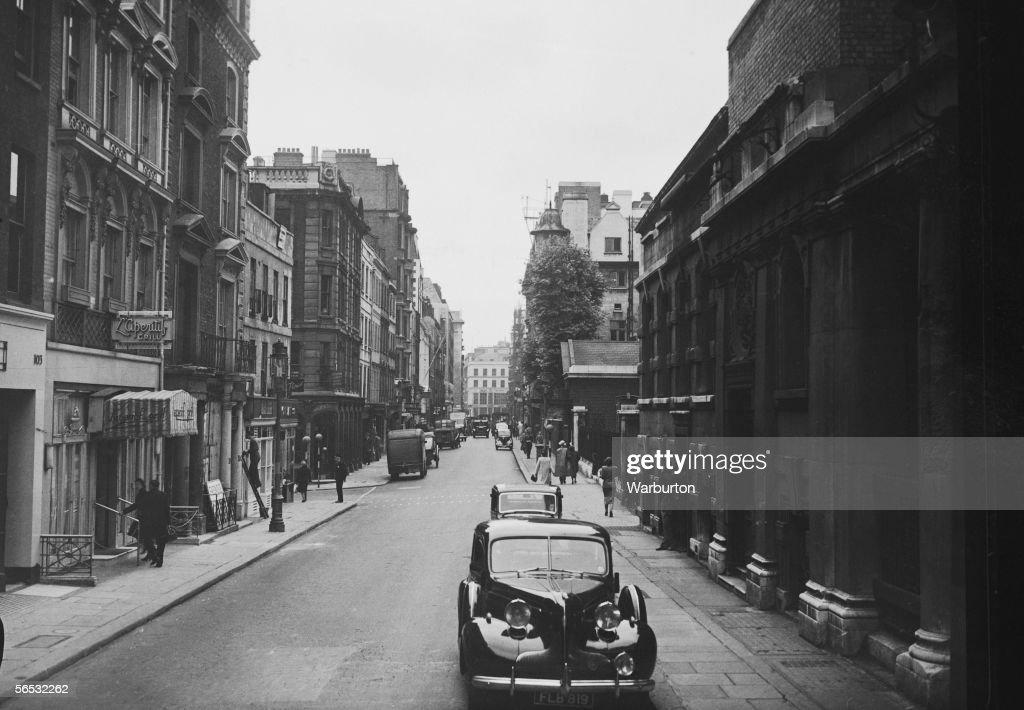 A view down Jermyn Street London 1st July 1948