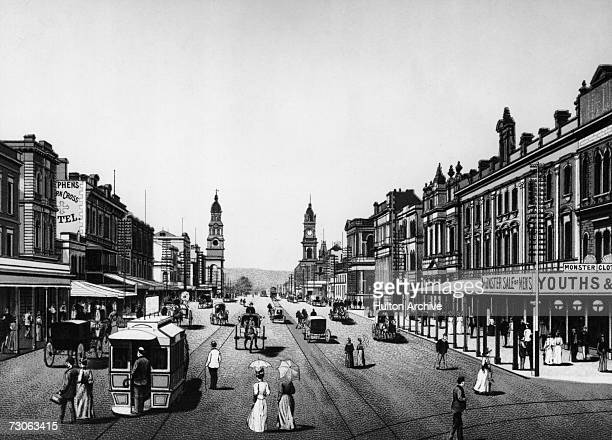 A view down King William Street Adelaide Australia circa 1880