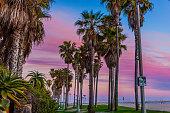 View down Ocean Front Walk toward Venice Pier