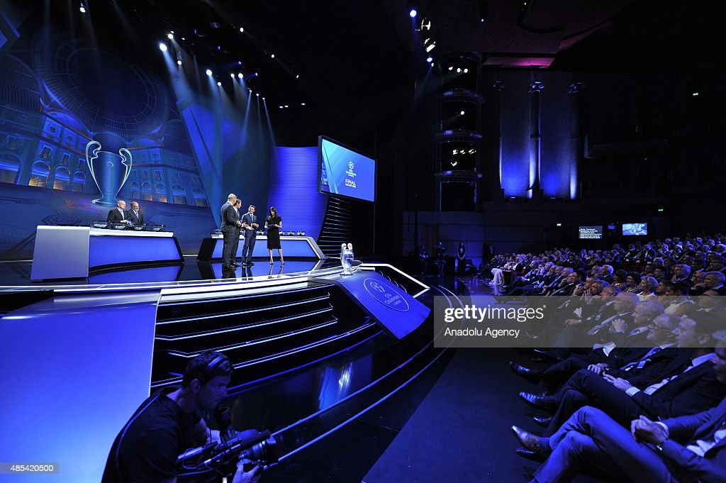 A view during the UEFA Champions League Group stage draw ceremony on August 27 2015 in Monaco