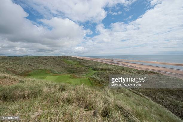 A view from 14th tee of Donald Trump's International Golf Links course north of Aberdeen on the east coast of Scotland on June 25 2016 Donald Trump...