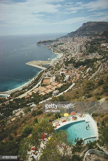 A view from a hillside in RoquebruneCapMartin southeastern France looking toward Monaco August 1970