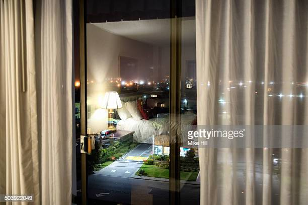View from a hotel window at night