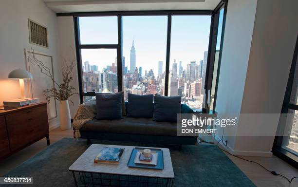 A view from a room inside the American Copper Building is seen at 626 First Avenue on March 17 2017 in New York The building is a dualtower...