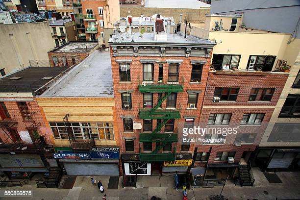View from above of Orchard Street, Lower East Side