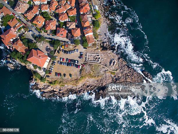 View from above of  Sozopol, Bulgaria