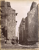 View from amid the ruins of the Karnak Temple Complex ElKarnak Egypt circa 1881