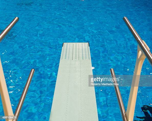 View From An Olympic Sport Diving Board At An Indoor Pictures Getty Images