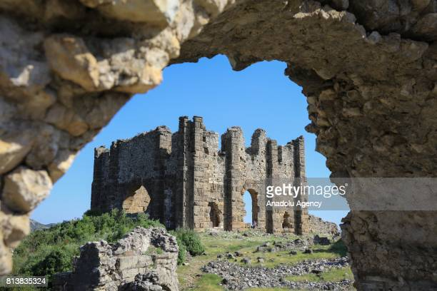 A view from Aspendos in Antalya Turkey on April 09 2017 Antalya has been a cause of attraction to different civilizations from the ancient past The...