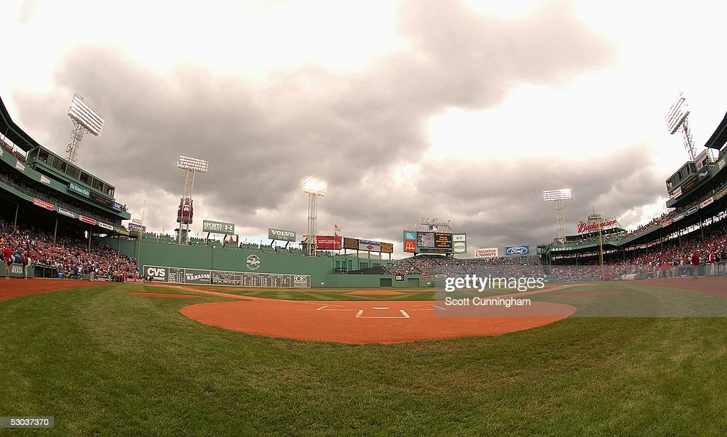 A View From Behind Home Plate At Fenway Park Before The Game Between Boston Red
