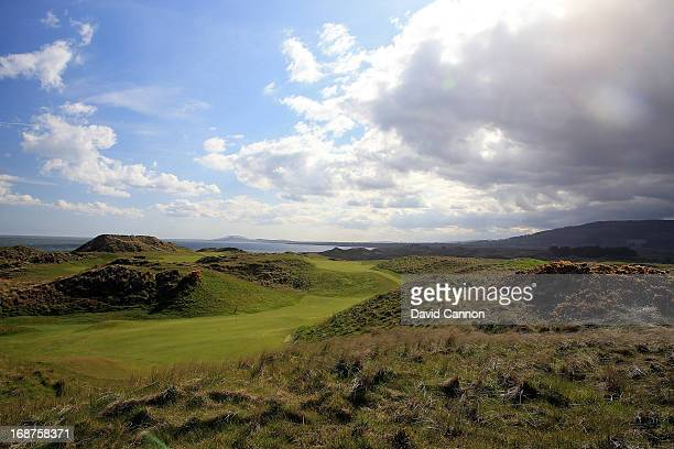 A view from behind the green of the par 4 8th hole at The European Golf Club on May 2 2013 in Brittas Bay Ireland