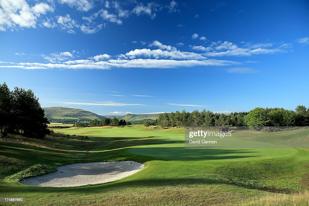 A view from behind the green on the 320 yards par 4 14th hole 'Nebit Knowe' on The PGA Centenary Course at The Gleneagles Hotel Golf Resort will be...