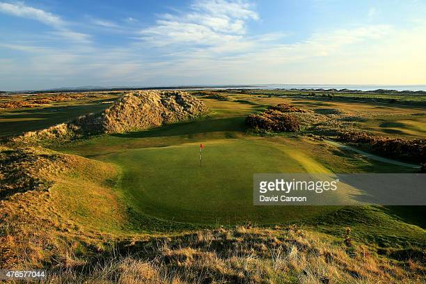 A view from behind the green on the 356 yards par 4 15th hole 'Steel's Gem' on the Jubilee Course at St Andrews Links on April 21 2015 in St Andrews...