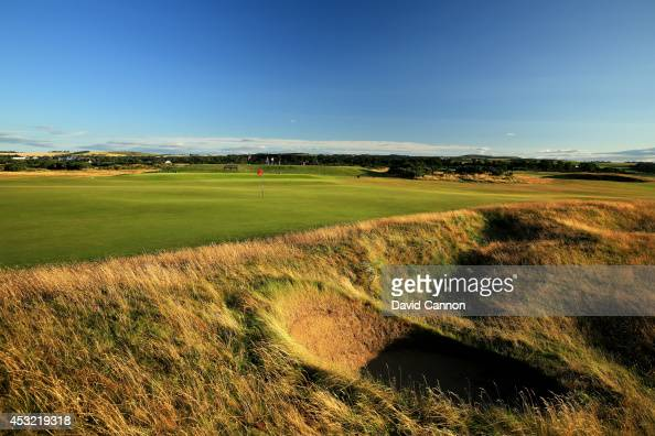 A view from behind the green on the par 4 10th hole on the Old Course at St Andrews venue for The Open Championship in 2015 on July 29 2014 in St...
