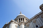 View from below of St. Paul's cathedral, London