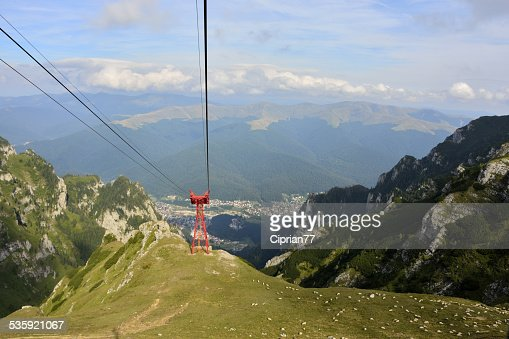 view from cable car : Stock Photo