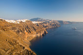 View from clifftop, Imerovigli, Santorini, Greece